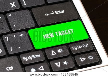 On The Laptop Keyboard The Green Button Written New Target