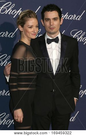 PALM SPRINGS - JAN 2:  Olivia Hamilton, Damien Chazelle at the Palm Springs International FIlm Festival Gala at Palm Springs Convention Center on January 2, 2017 in Palm Springs, CA