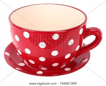 Red white plaid ceramic cup mug