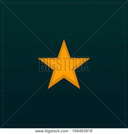 Clasic star. Color symbol icon on black background. Vector illustration