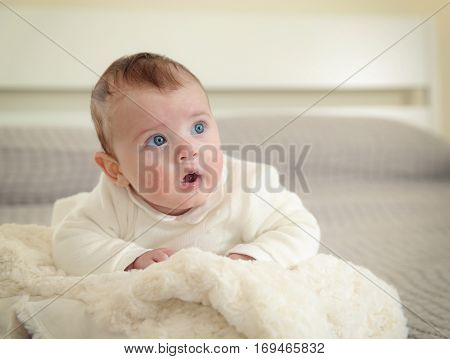 Newborn Baby On The Day Of Baptism.