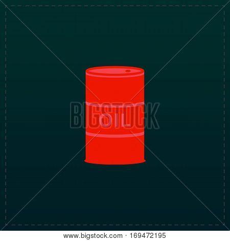 Barrels of oil. Color symbol icon on black background. Vector illustration