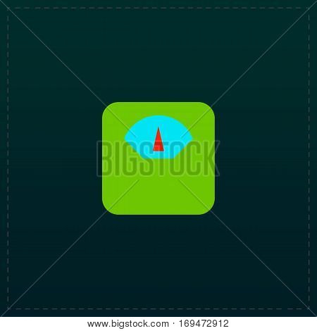 Weighing apparatus. Color symbol icon on black background. Vector illustration