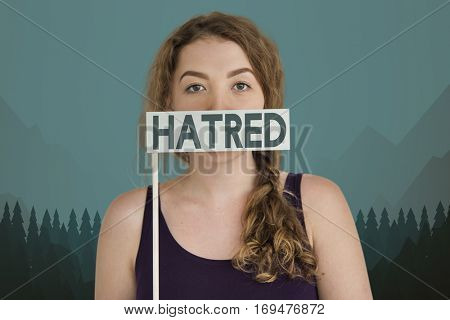 Adult feminine Woman Hatred Concept