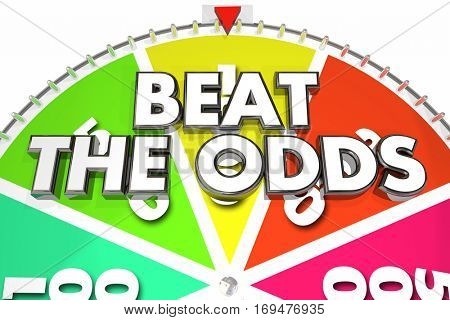 Beat the Odds Spinning Wheel Chance Win 3d Illustration