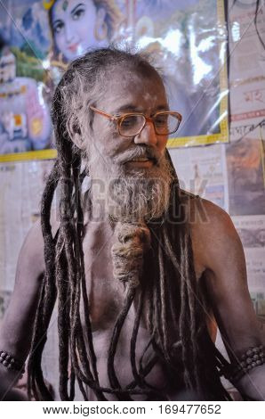 Man With Dreadlocks In West Bengal