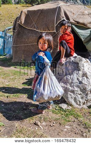 Children In Kyrgyzstan