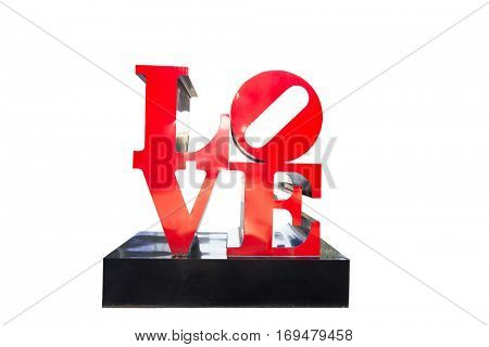 isolated art decor with love on white background