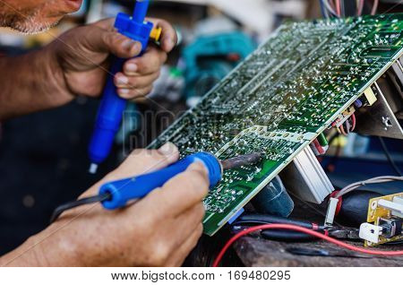Electronic Technology Repair television Occupation Renovation Fix Business Concept