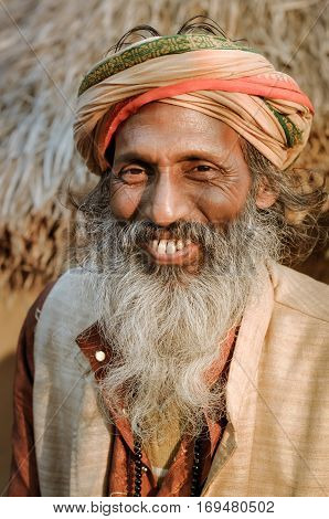 Native Man At Festival In West Bengal