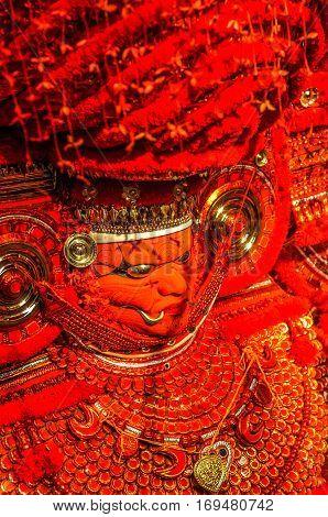 Costume Of Mythological Figures In Kerala