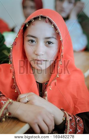 Girl With Ring In Afghanistan