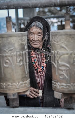 Woman With Red Beads In Arunachal Pradesh