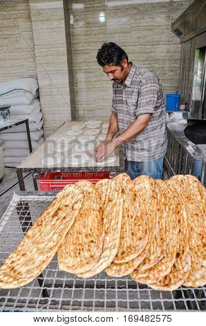 Iranian Bread In Iran
