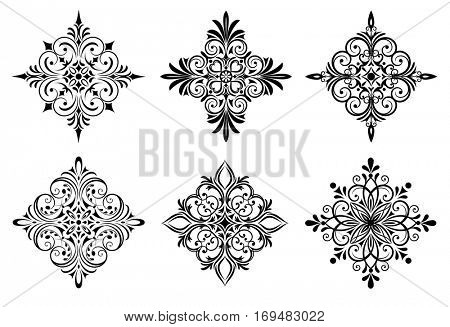 Vector illustration of six design elements