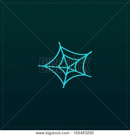 Spiderweb. Color symbol icon on black background. Vector illustration