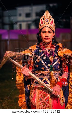 Girl With Crown In Assam