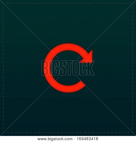 Rotation Arrow. Color symbol icon on black background. Vector illustration