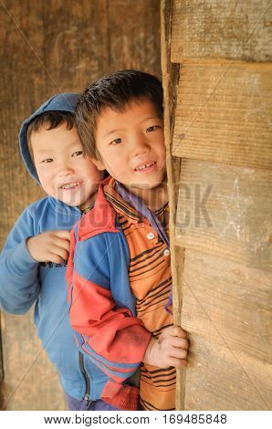 Timid Boys In Arunachal Pradesh