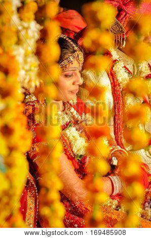 Bride In Yellow In Rajasthan
