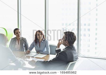 Business meeting in boardroom