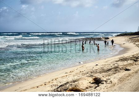 People In The Sea Of San Andres