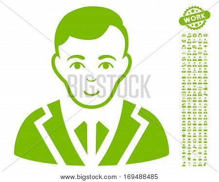 Noble pictograph with bonus human pictograph collection. Vector illustration style is flat iconic eco green symbols on white background.