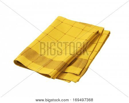 yellow and brown checkered dish towel