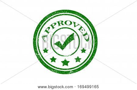 approved. stamp. green round grunge approved sign.