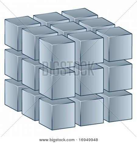 vector 3d cube