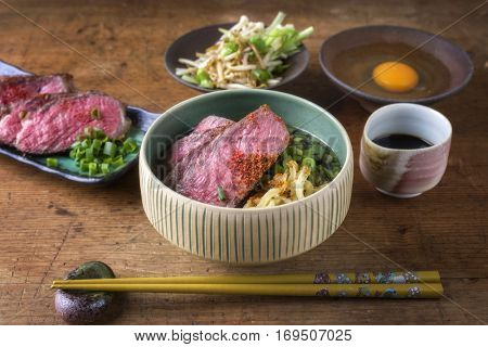Ramen Soup with Waygu Beef Filet