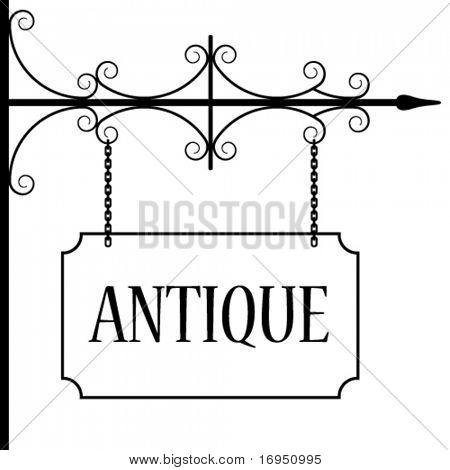 vector old vintage signboard