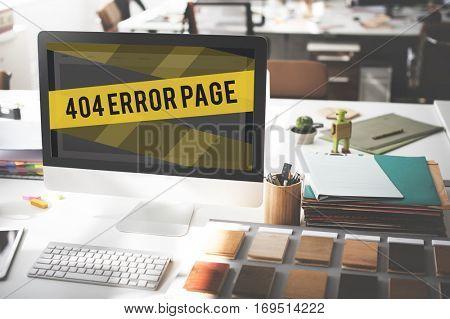 Website Under Construction Error Concept