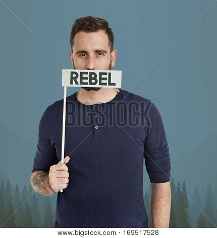 Adult Male Rebel Caucasian Concept