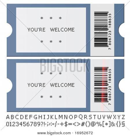 vector modern tickets
