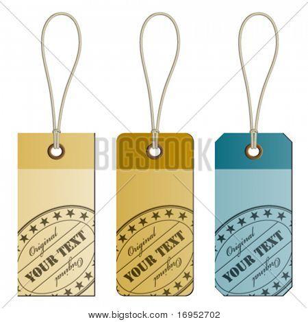 "vector ""original"" cardboard tags"