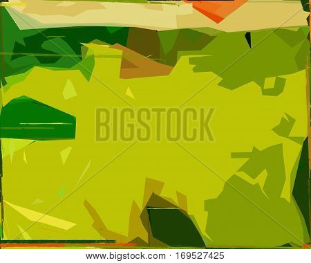 Abstract, abstraction background, art background, green and yellow abstract. Artistic abstraction. Abstract art. Abstract artwork. Art.