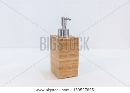 Wooden Bathroom Accessories For Shampoo Or Shower Cream