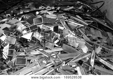 abtract of metal scrap for background used