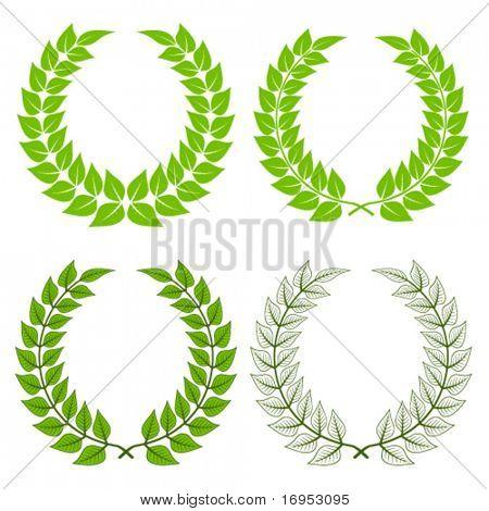 vector laurel wreaths