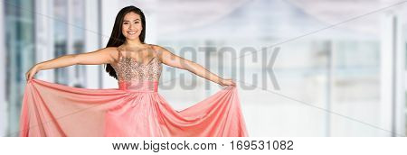 Teen girl going to her prom or dance