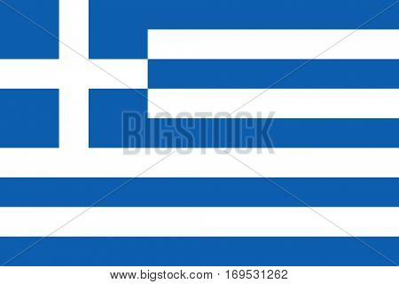 Official colors and proportions vector flag of Greece. Greek symbol in eps10.