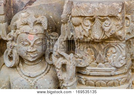 Carving Of An Apsara At Abhaneri