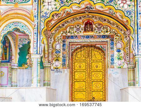Gold Doors Of An Indian Temple