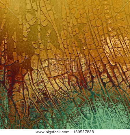 Grunge scratched background, abstract vintage style texture with different color patterns: yellow (beige); brown; blue; red (orange); gray; cyan