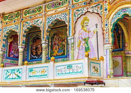 Fresco On A Temple Wall