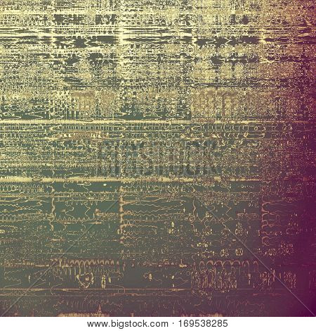 Old grunge background or aged shabby texture with different color patterns: yellow (beige); brown; purple (violet); gray; pink