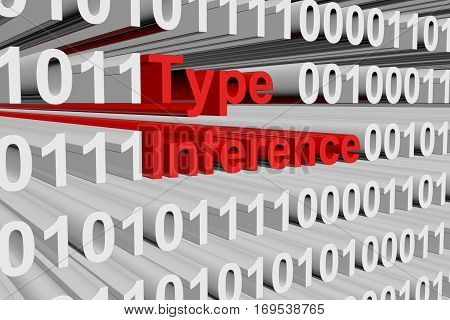 type inference in binary code, 3D illustration