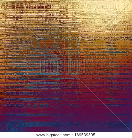 Retro vintage style background or faded texture with different color patterns: yellow (beige); brown; blue; red (orange); purple (violet); pink