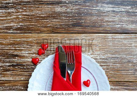 Love Romantic Dinner Concept.